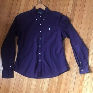 Ralph Lauren slim fit purple cotton blouse - 10